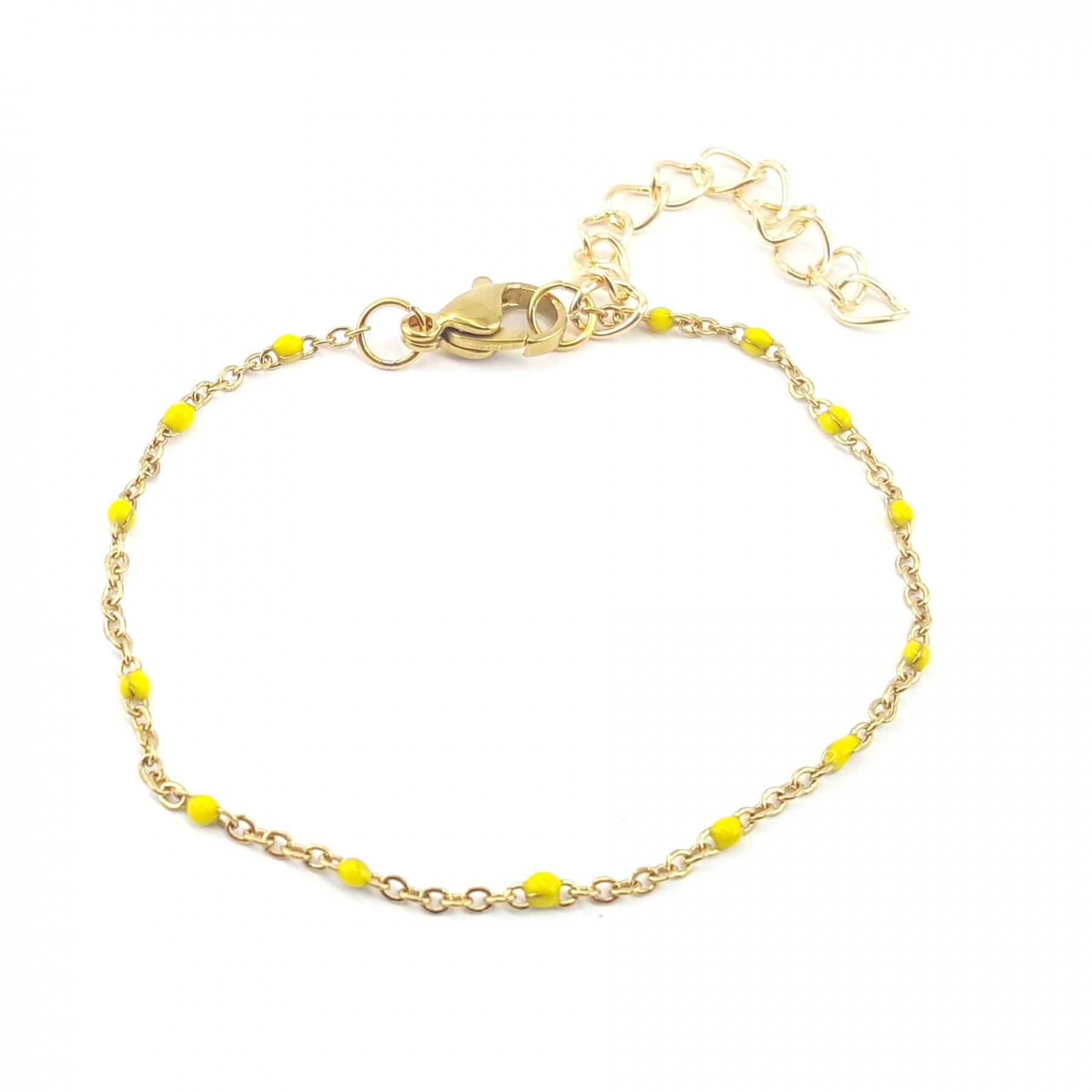 Bracelet émaillage jaune