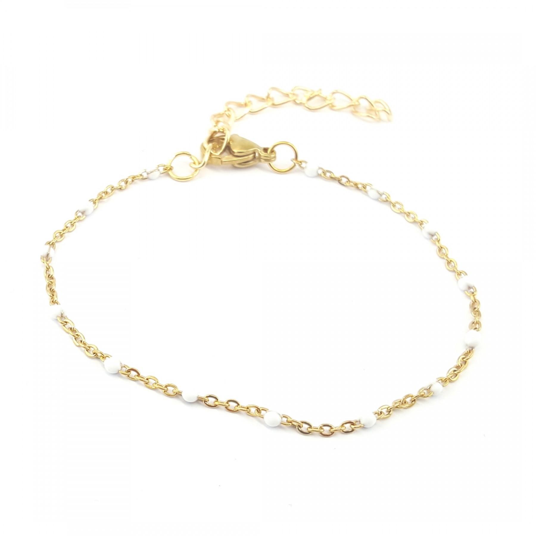 Bracelet émaillage blanc