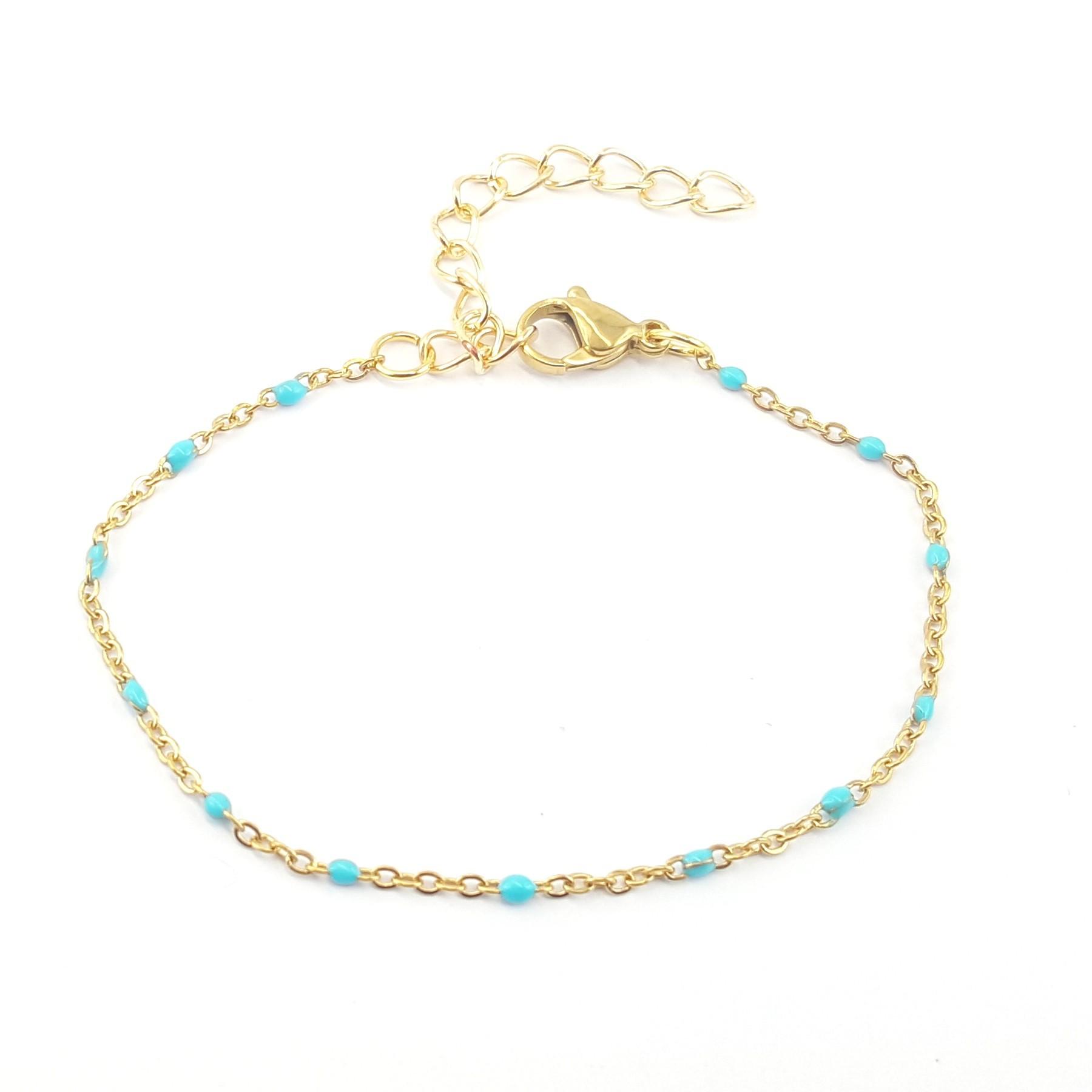 Bracelet émaillage turquoise