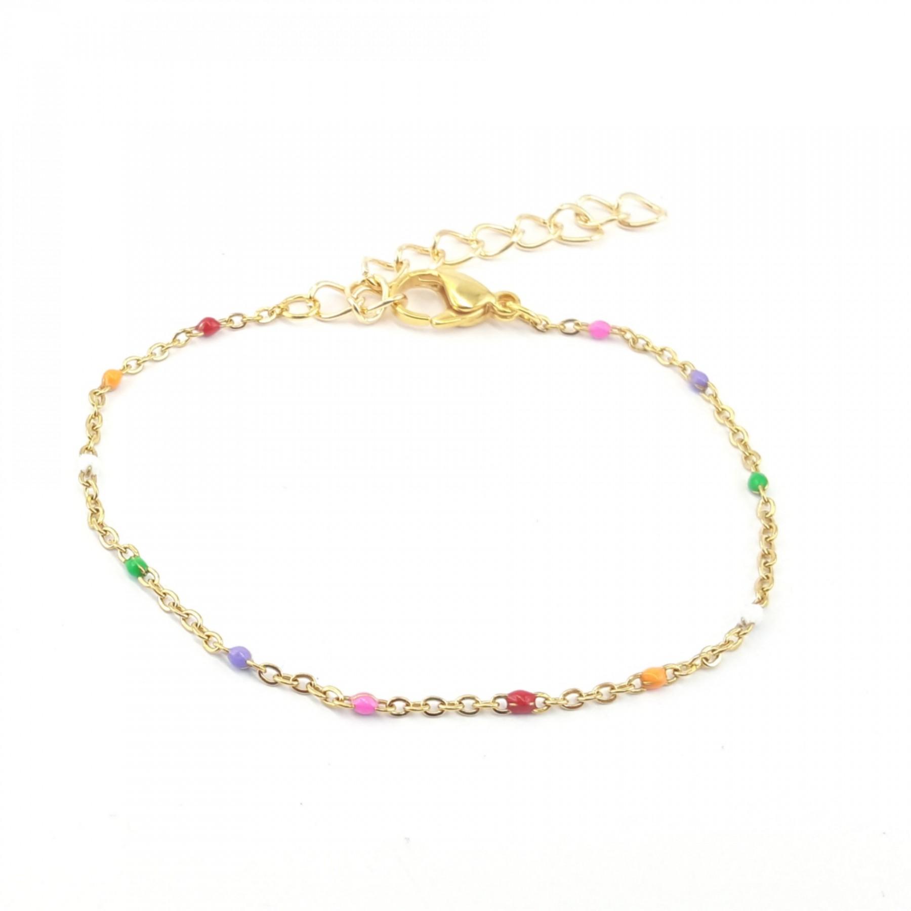 Bracelet émaillage multicolore