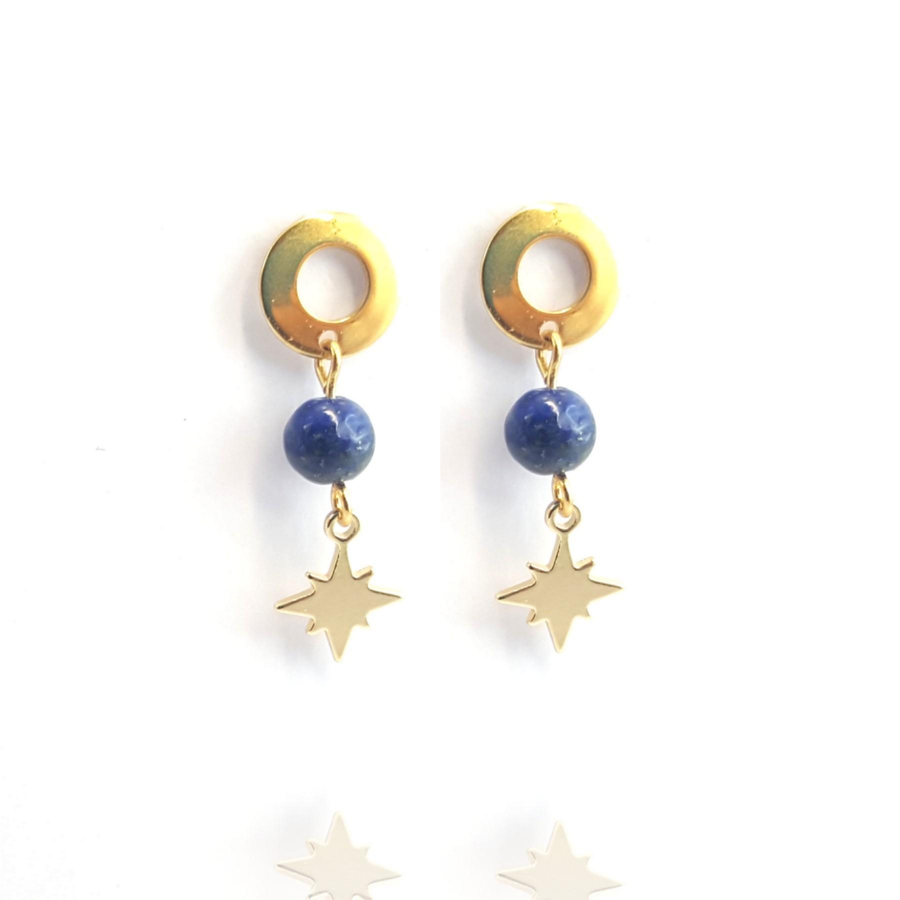 Clou lapis lazuli et étoile