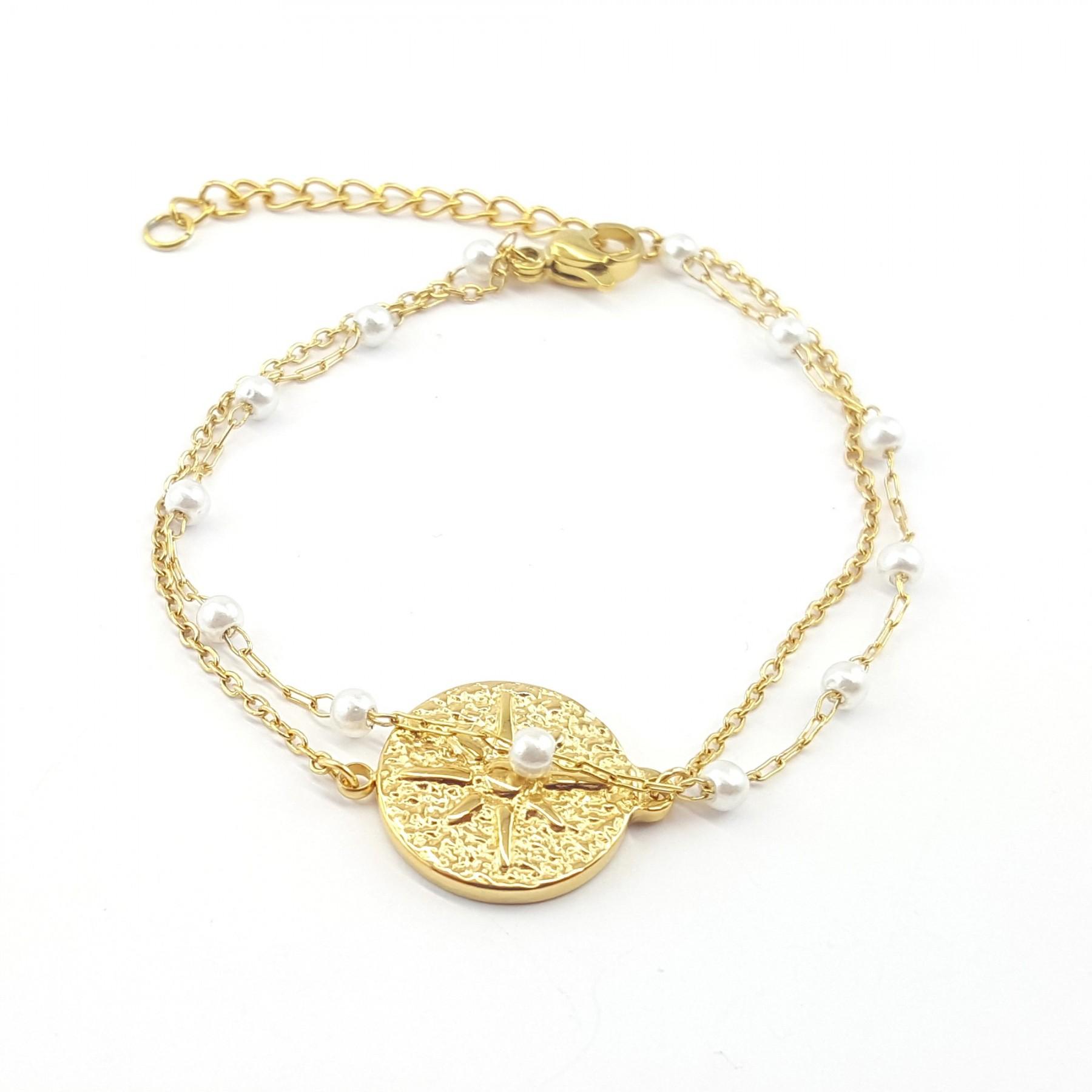 Bracelet double rang perle de culture