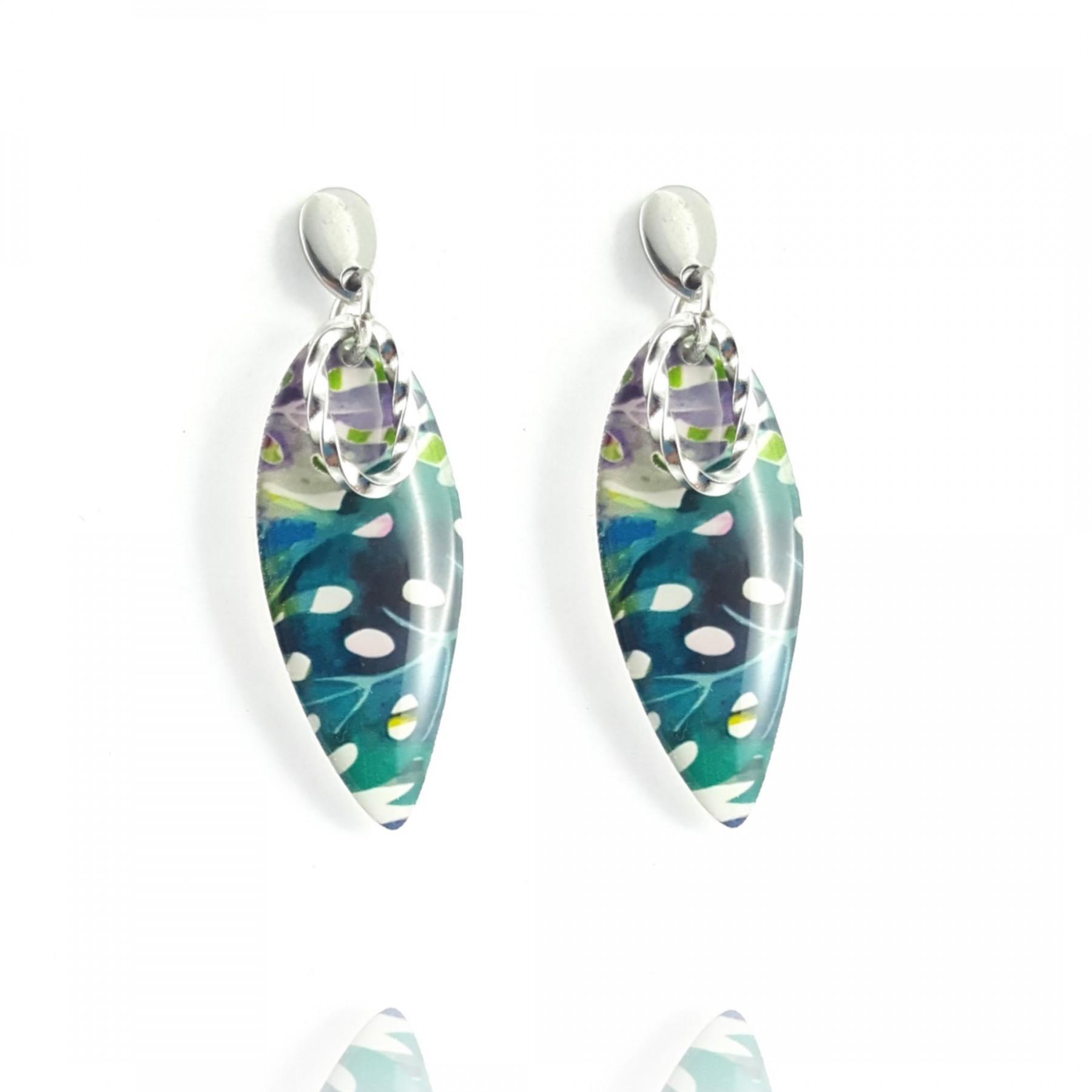 Clou pendants motif tropical