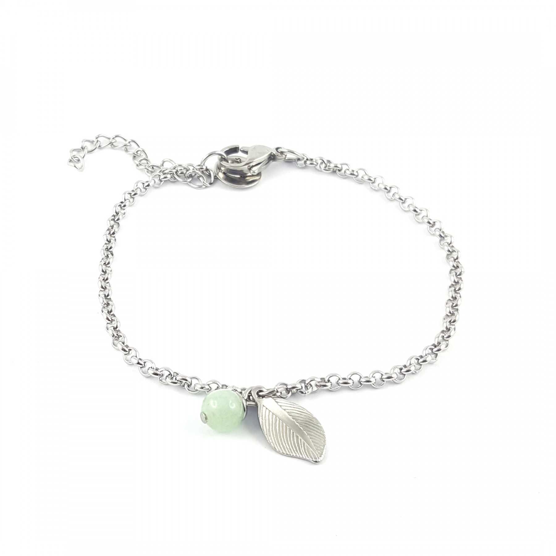 Bracelet chaîne jade