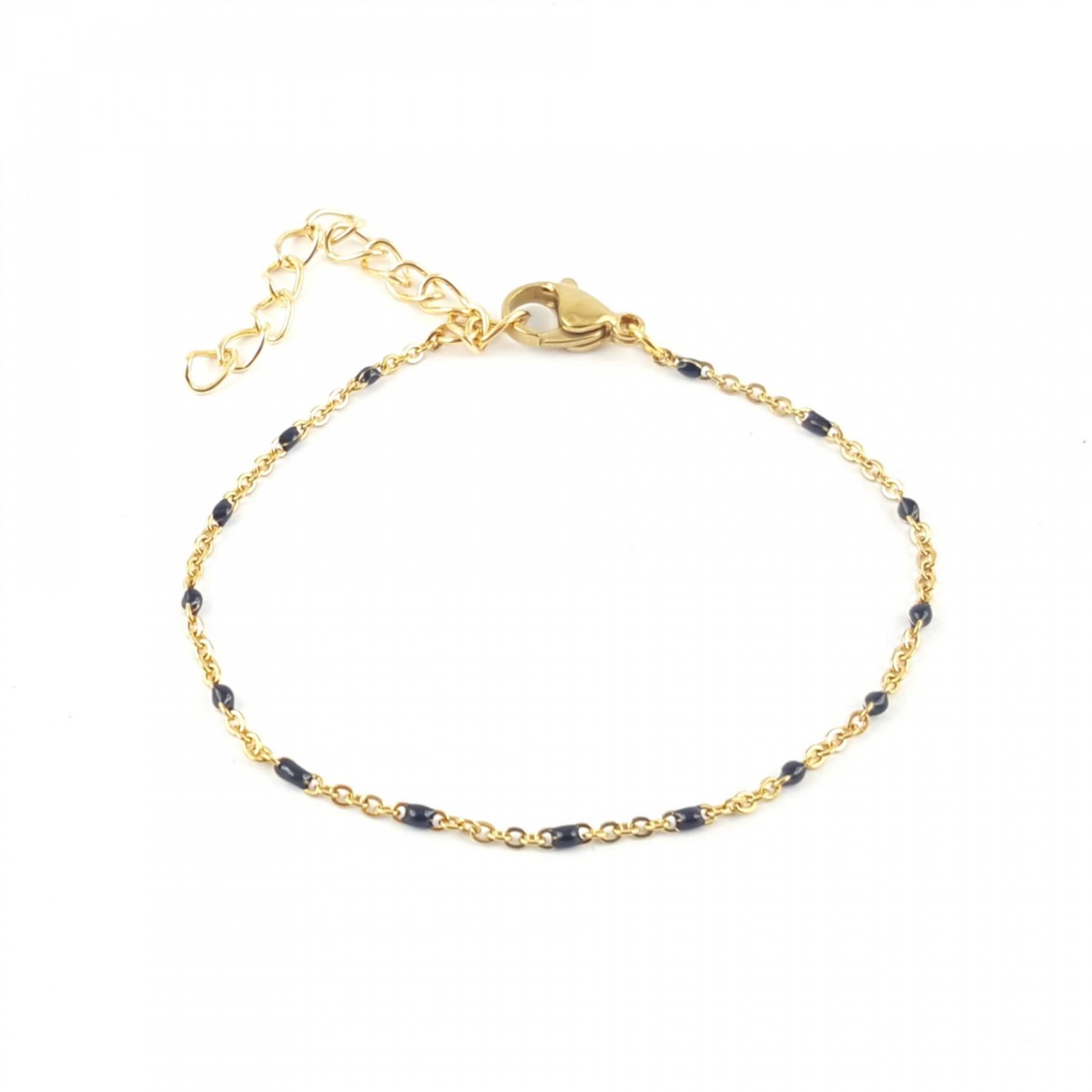 Bracelet émaillage noir