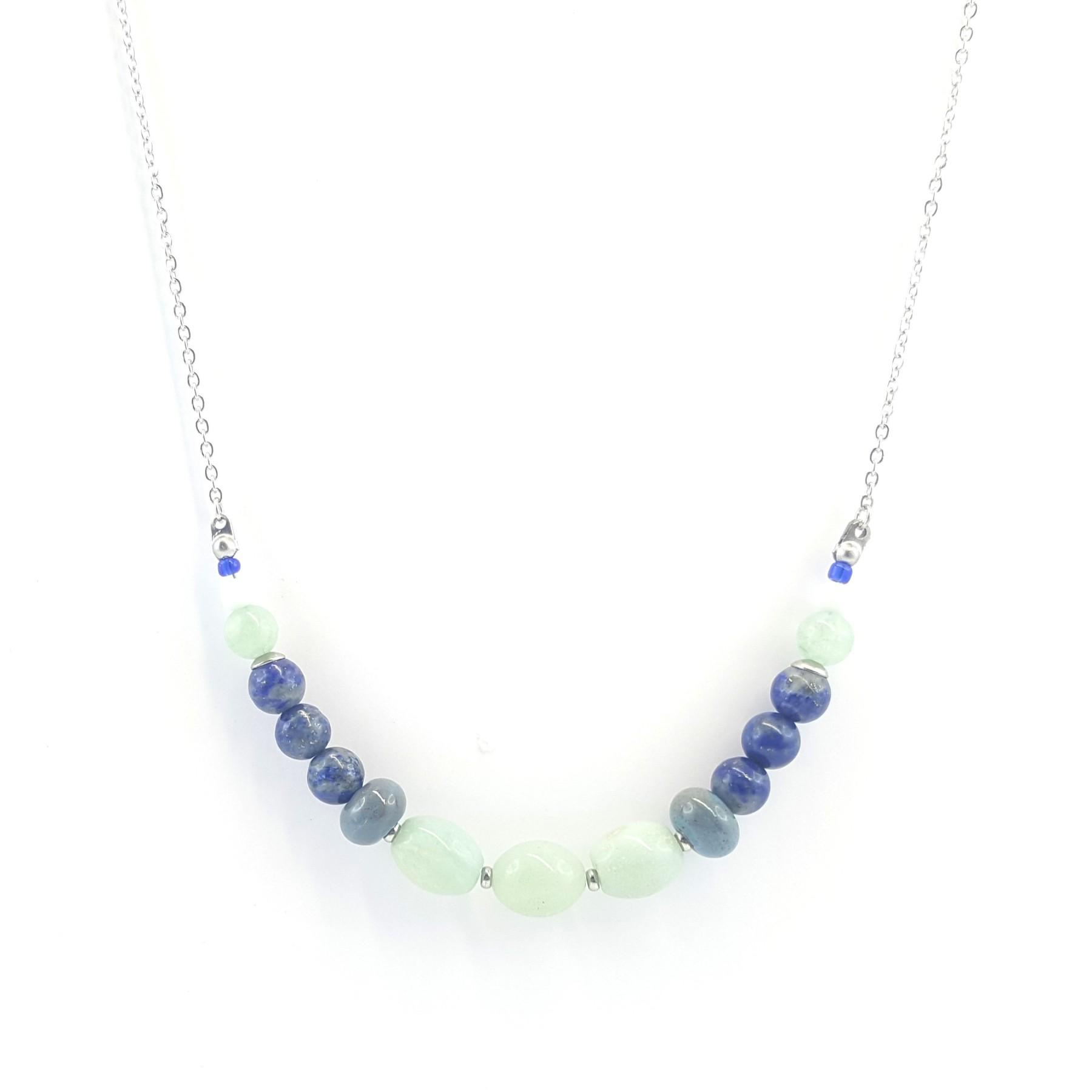 Collier jade et céramique