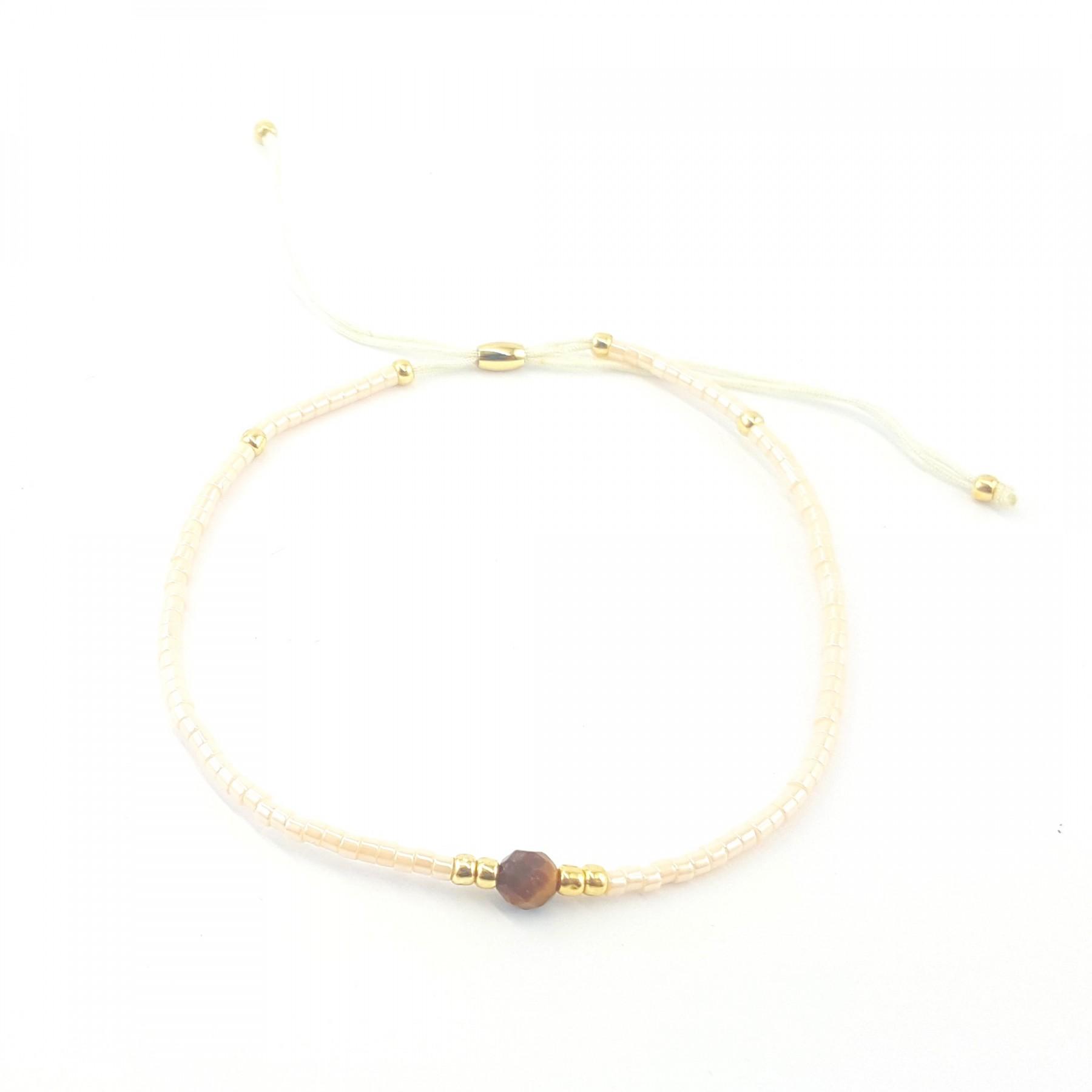 Bracelet coulissant rose pâle