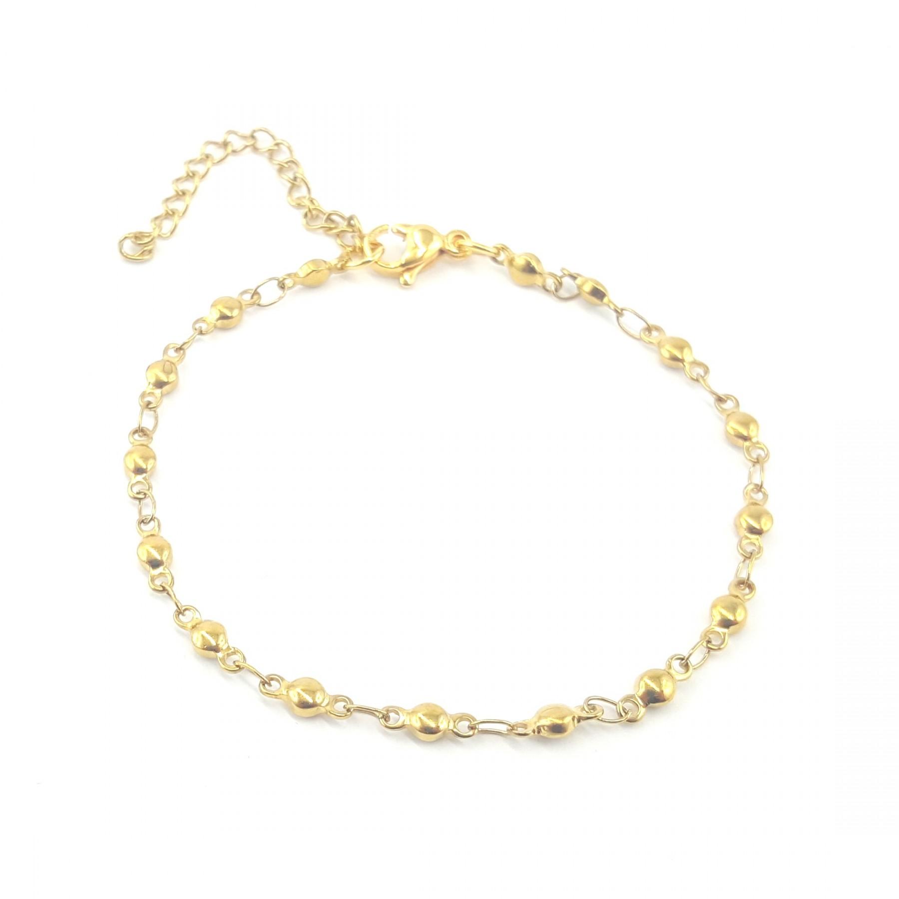 Bracelet doré boules minis