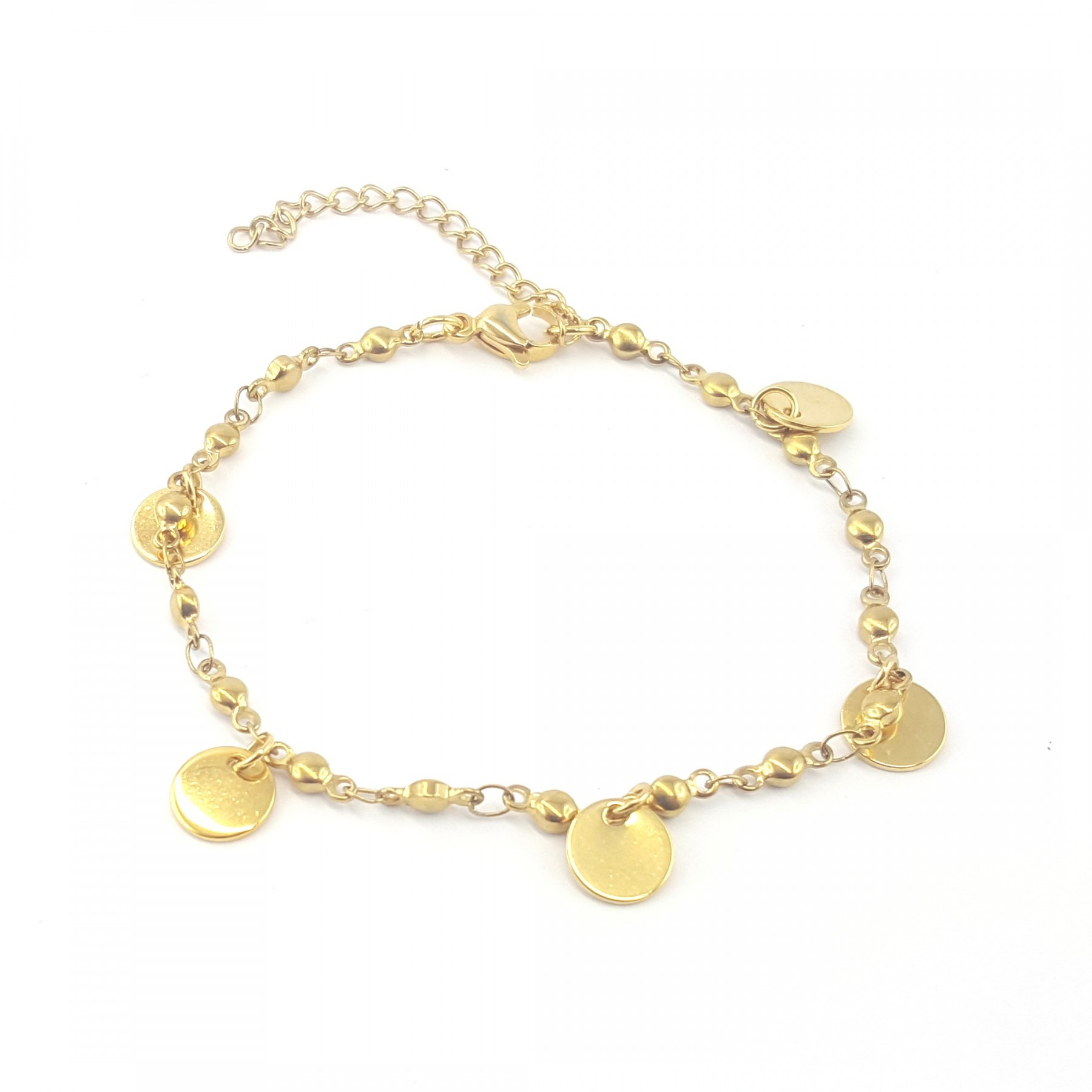 Bracelet pampilles rondes dorées
