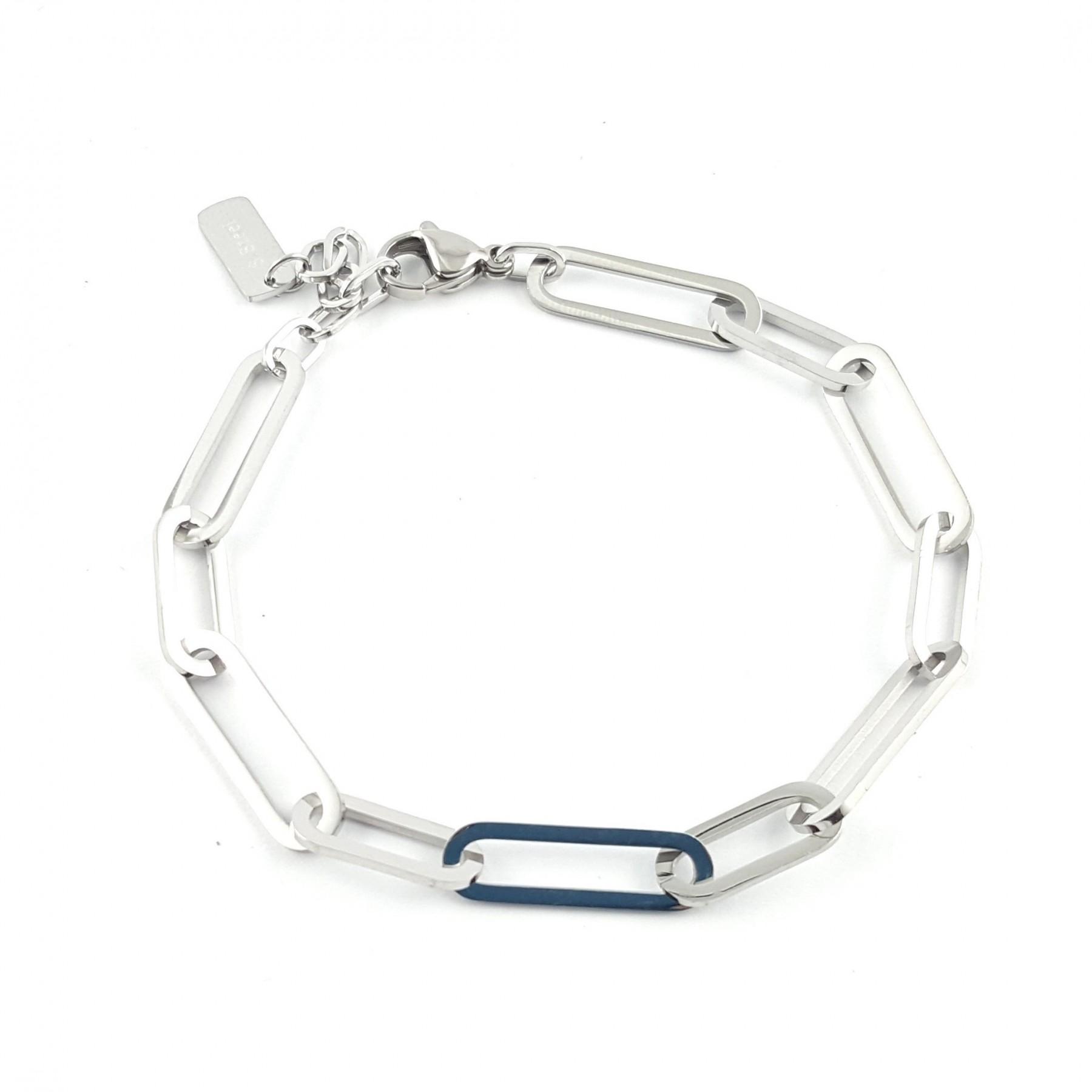 Bracelet mixte maille rectangle