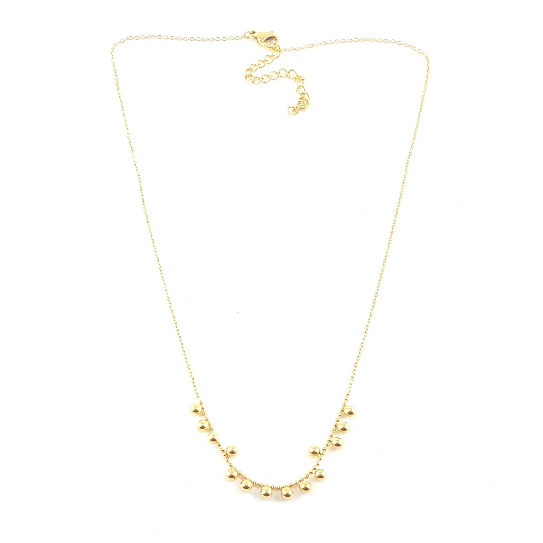 Collier pampilles boules multiples