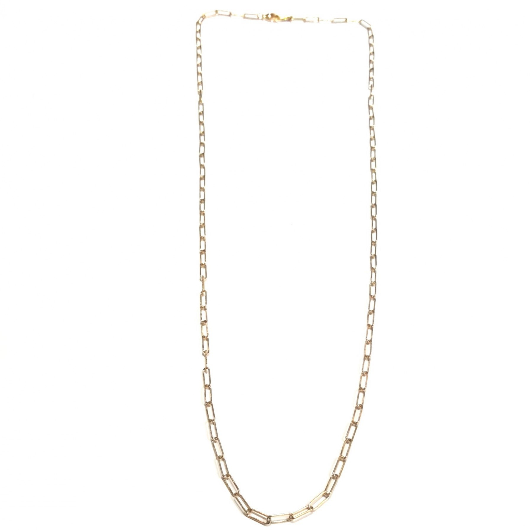 Collier long chaîne maille rectangle