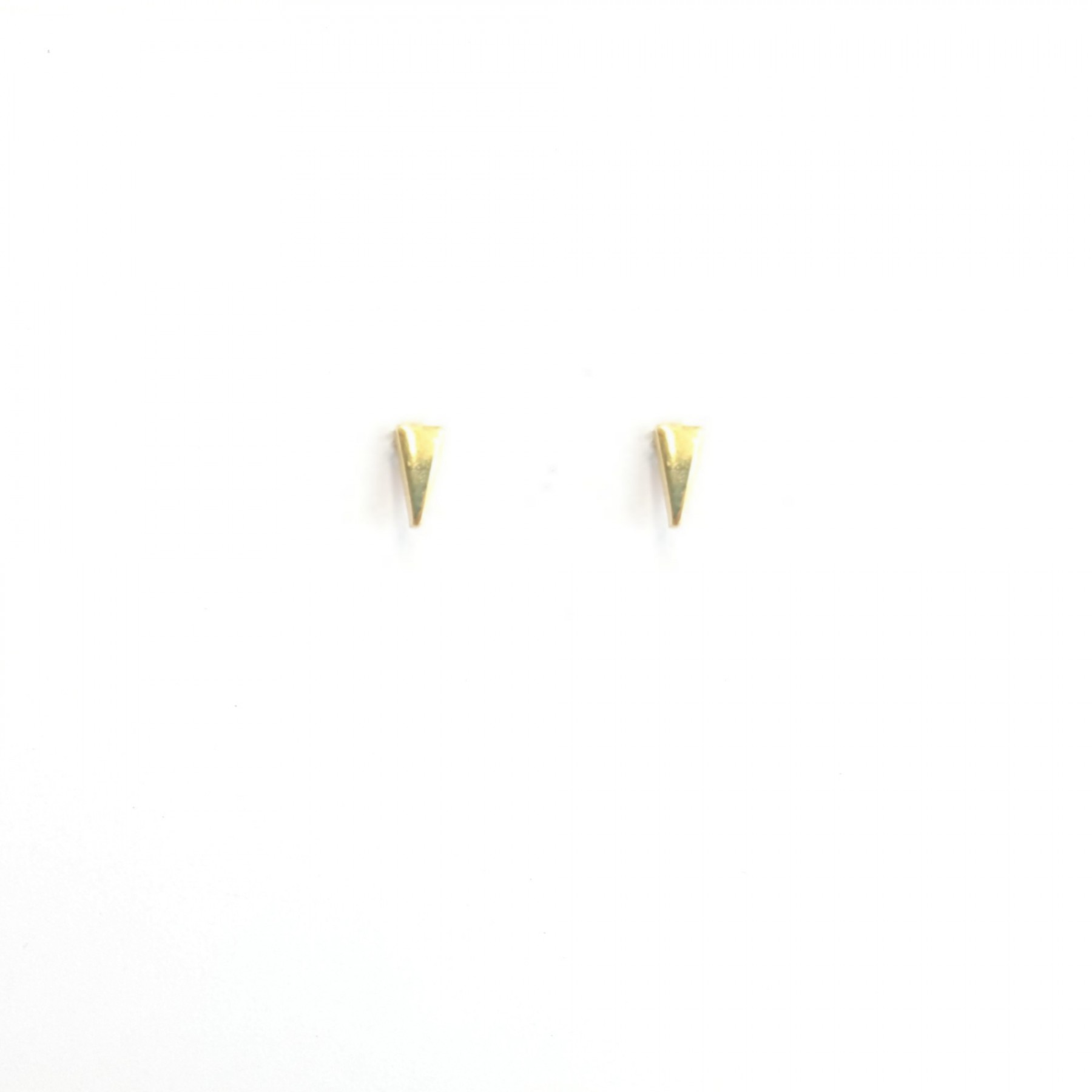 Puces mini triangle plaqué or