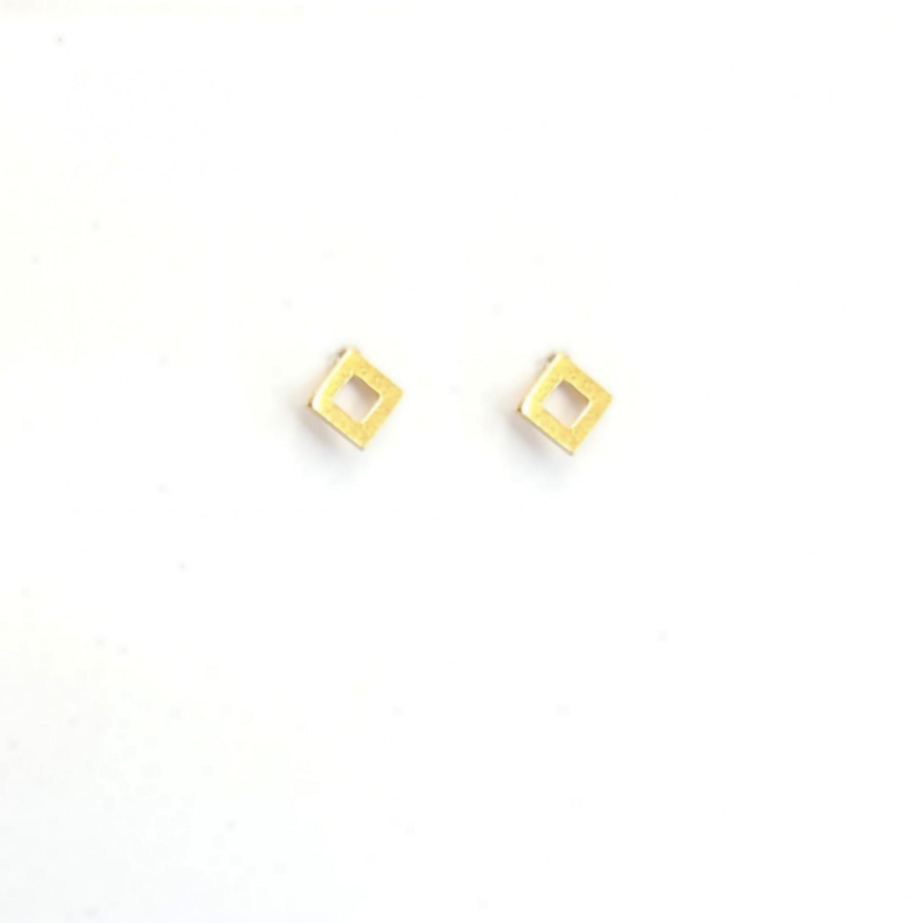 Puces mini carré plaqué or