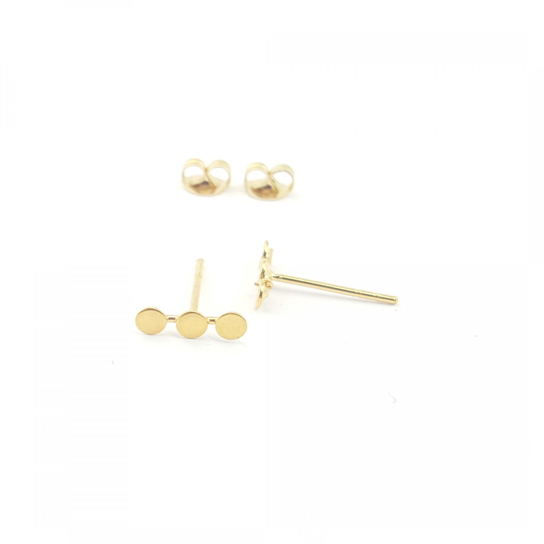 Puces mini-ronds en plaqué or