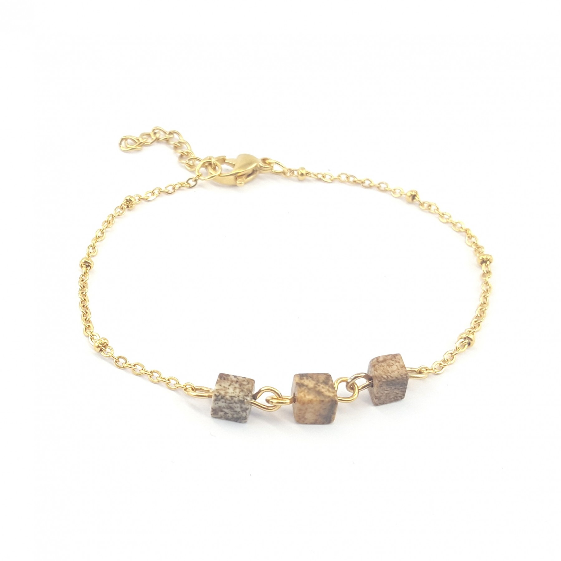 Bracelet trois jaspes