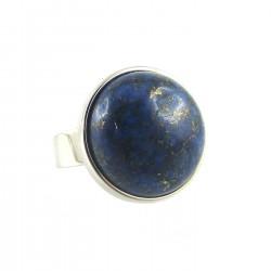 Bague lapis lazuli - cerclage inox