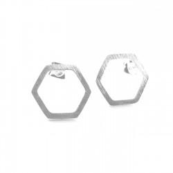 BO puces hexagone 10mm acier brossé