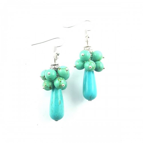 BO grappe howlite turquoise