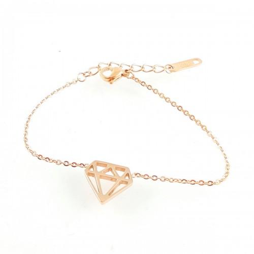BRA diamant géométrique doré rosé