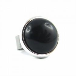 BAG POP ronde agate noire