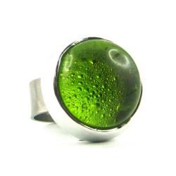 BAG POP vert olive translucide