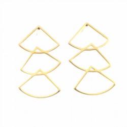 BO 3 triangles design doré