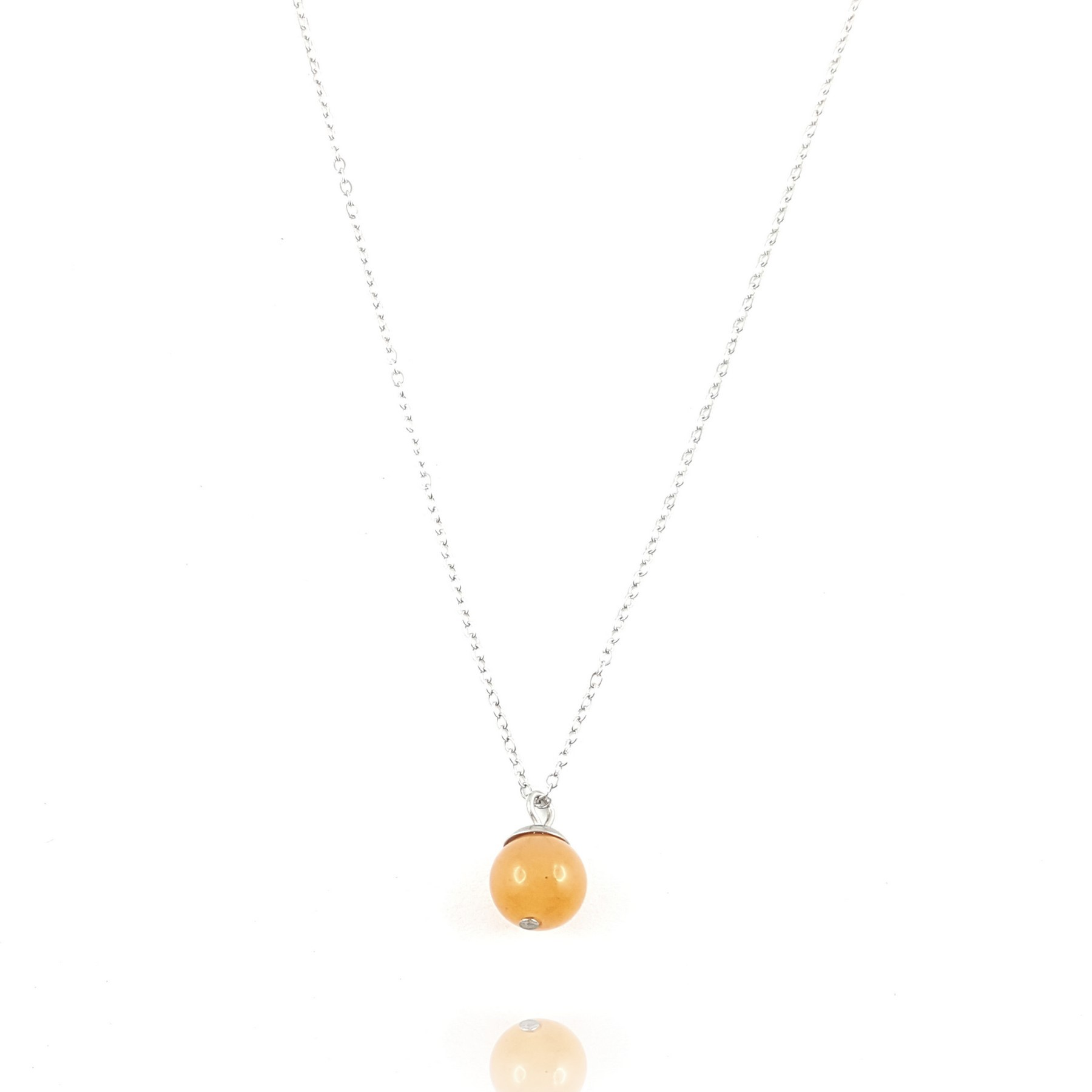 collier agate orange - identités bijoux