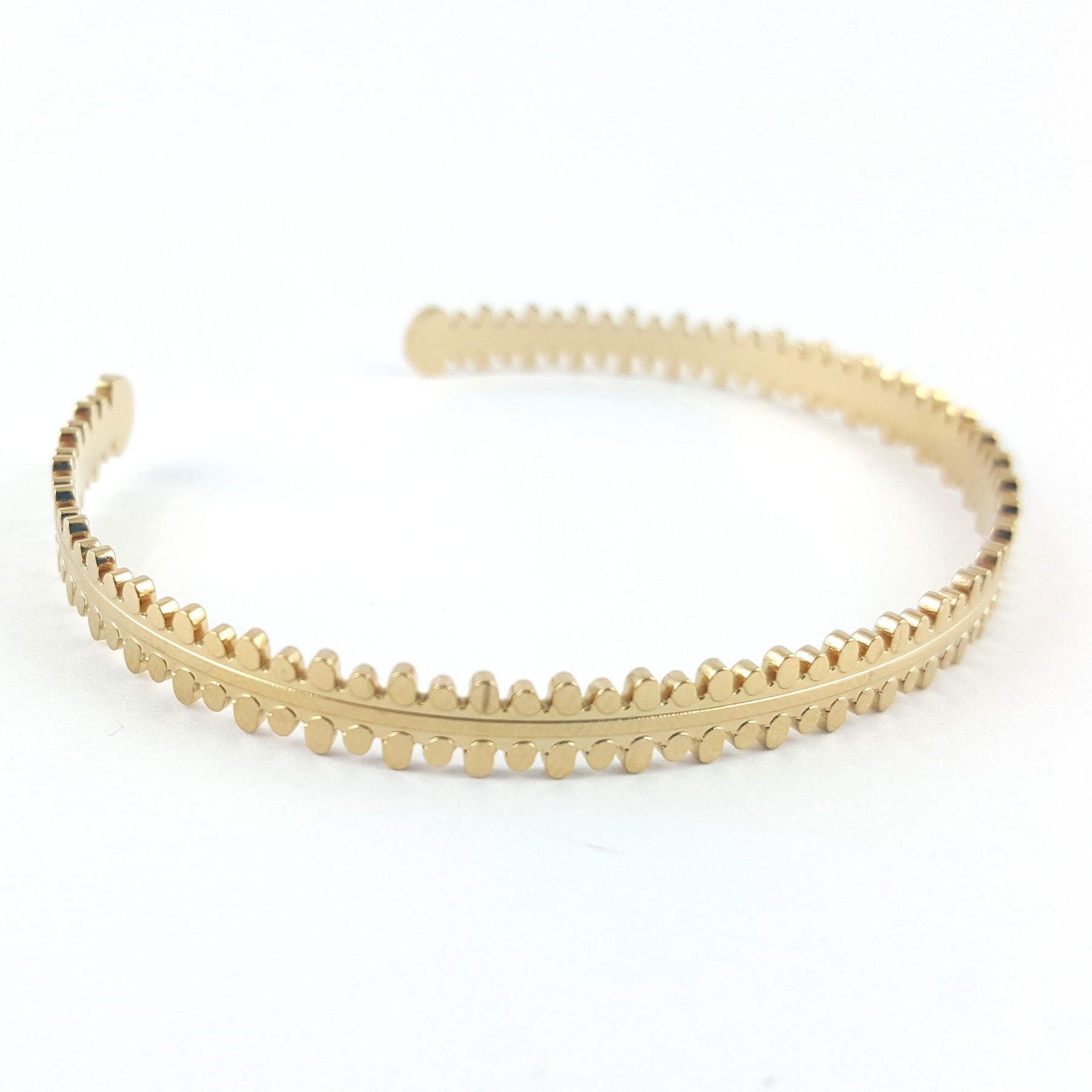 jonc acier doré - bijoux vintage - identités bijoux