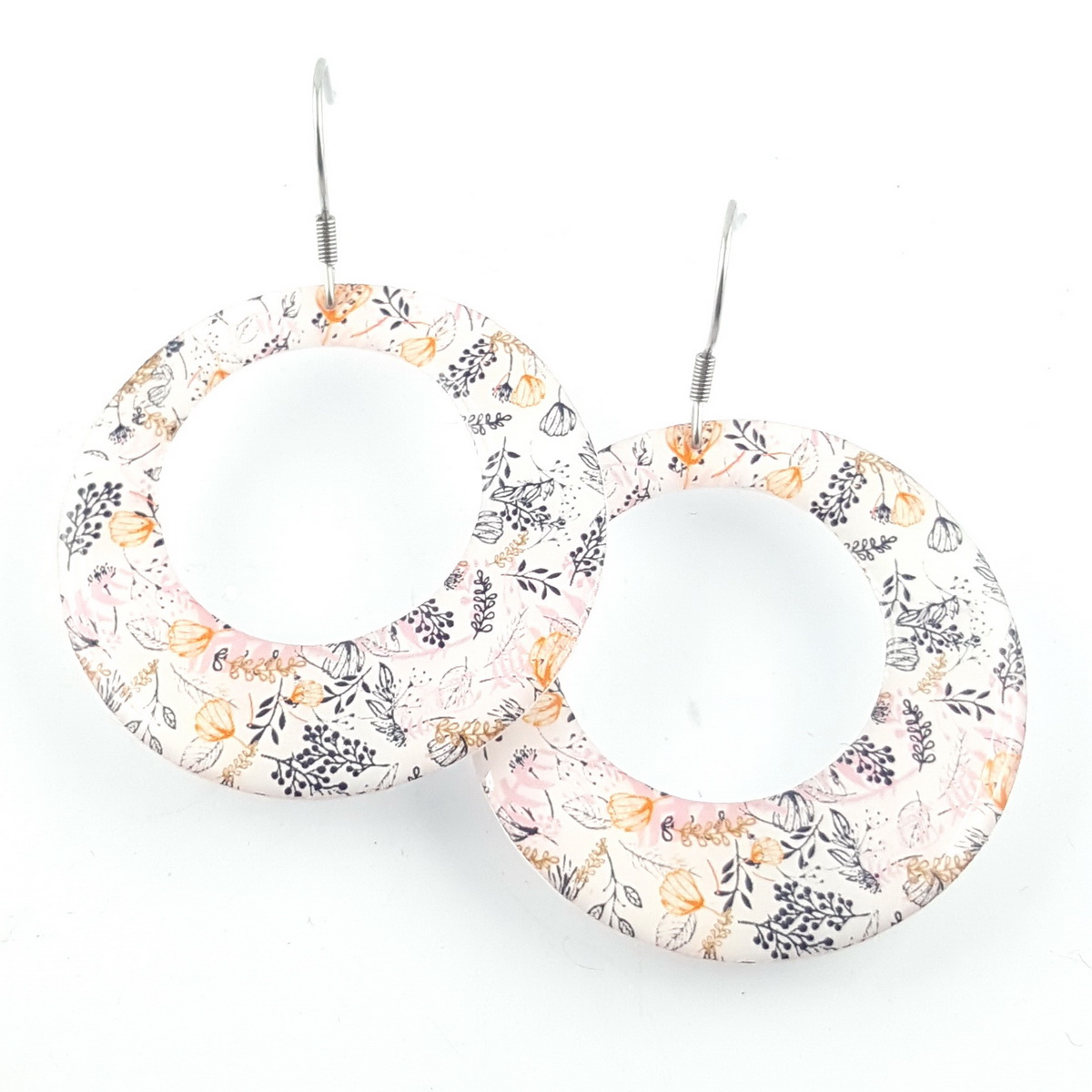 boucles d'oreilles motif liberty - résine made in France