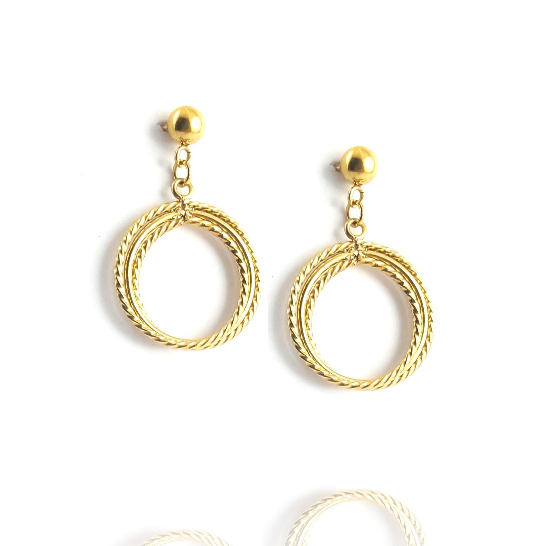boucles d'oreilles torsadées - identités bijoux