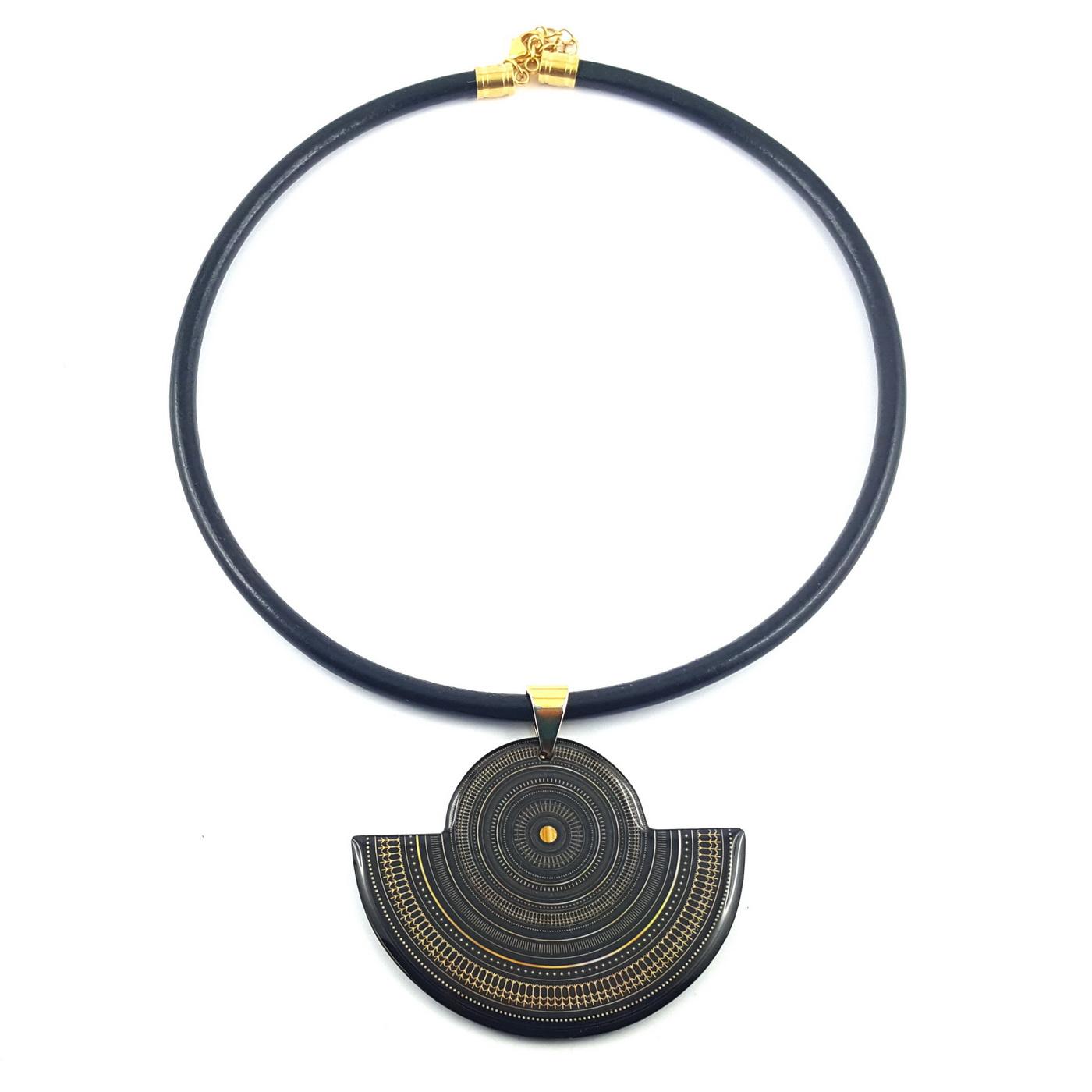 Collier original ethnique art deco - identites bijoux