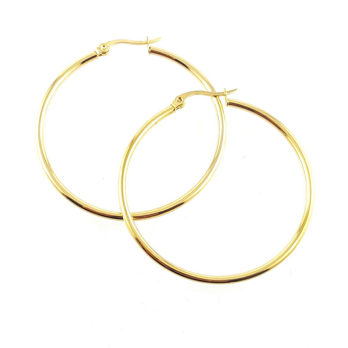 Grandes créoles dorées - identités bijoux