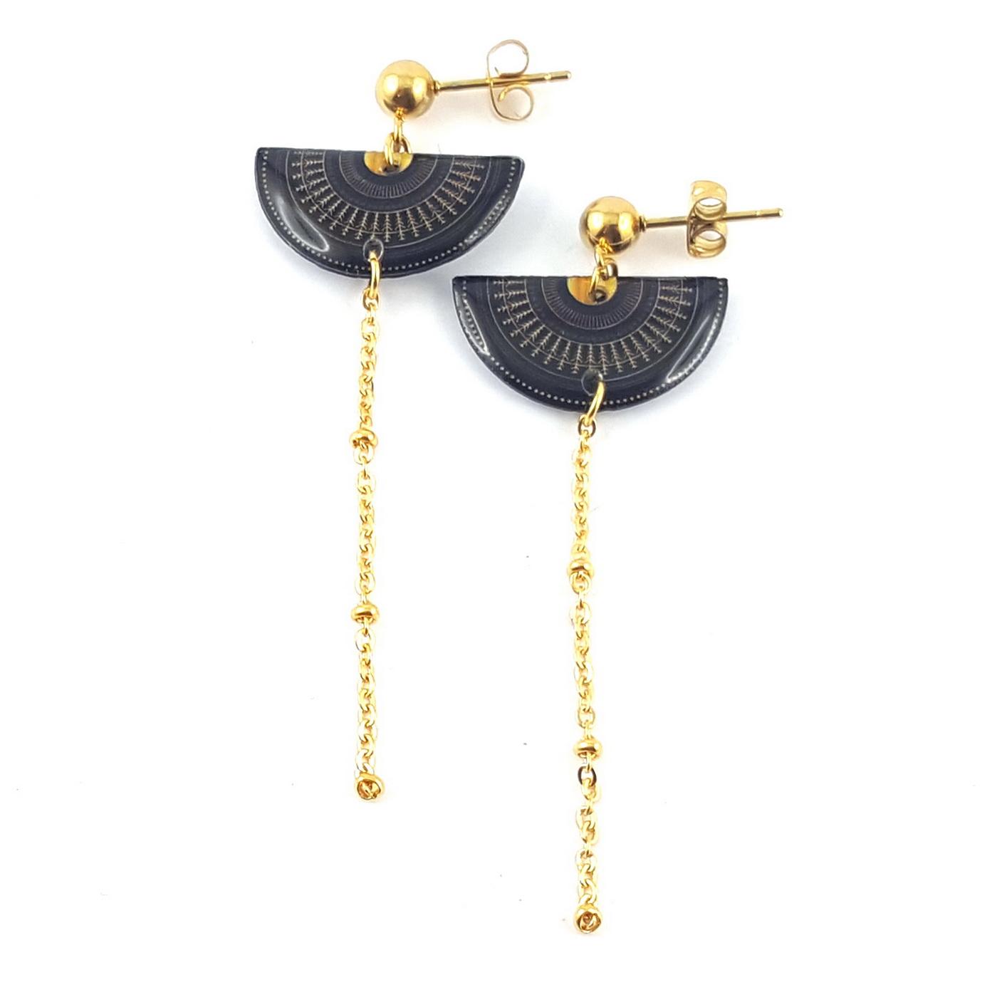 Boucles d'oreilles demi-cercle - identités bijoux