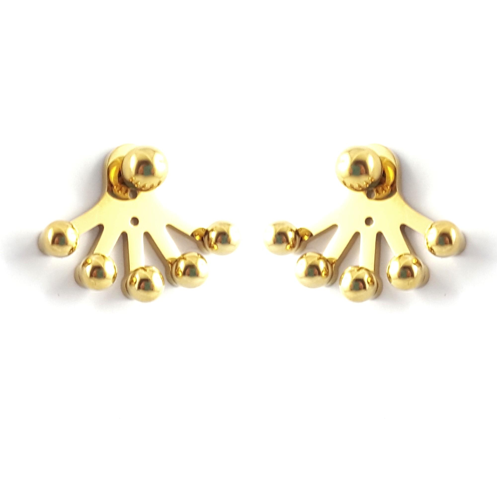 Boucles d'oreilles devant derriere - identites bijoux or