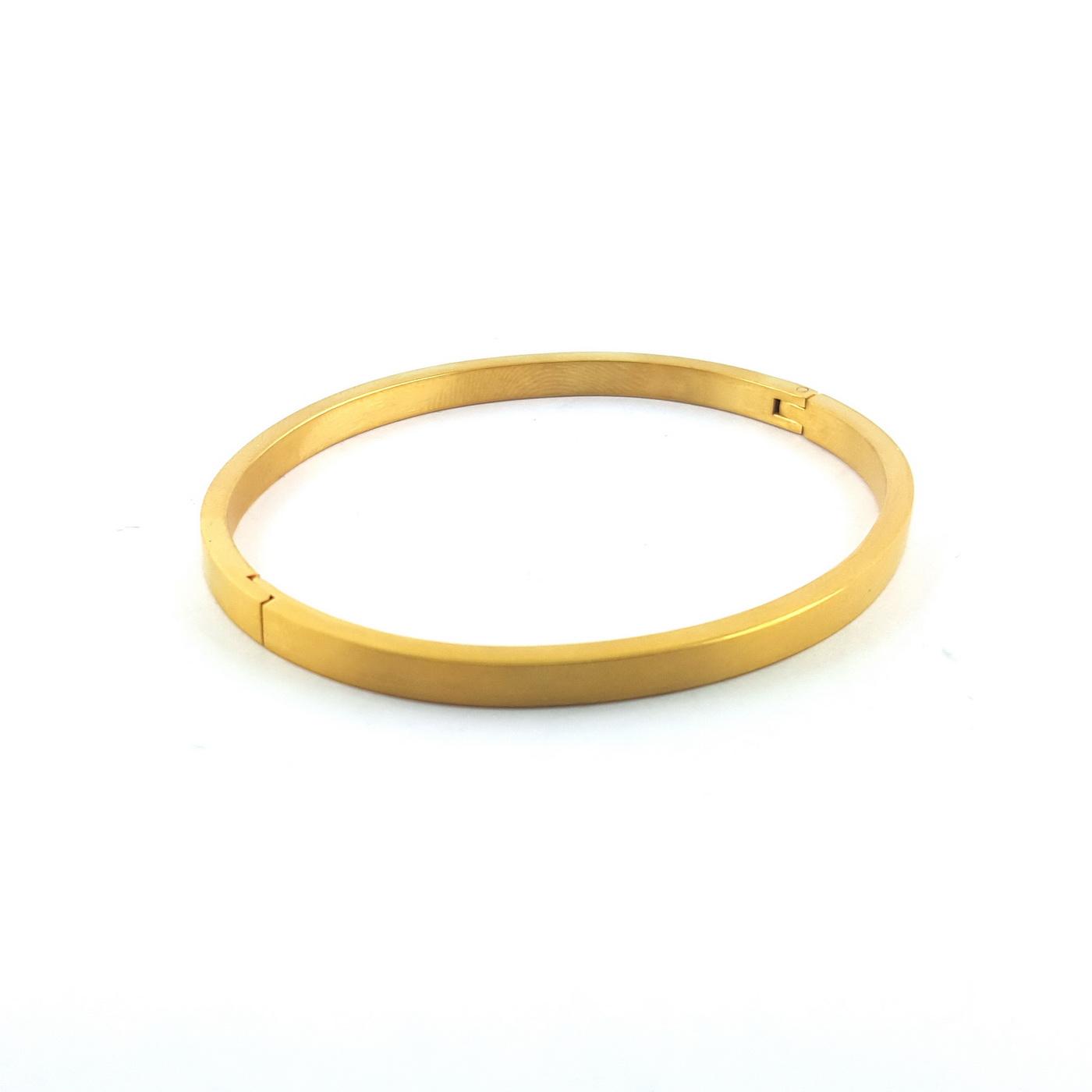 Bracelet jonc finition or clip - identités bijoux